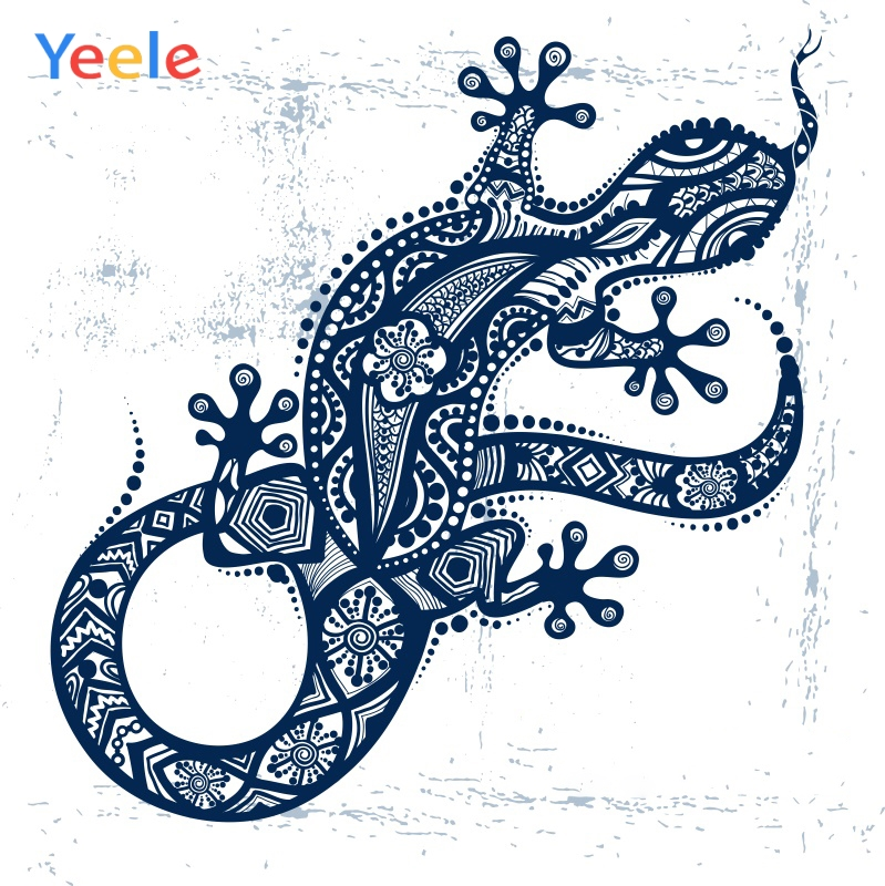 Yeele Photocall Animal Big Lizard Painting Flower Photography Backdrops Personalized Photographic Backgrounds For Photo Studio