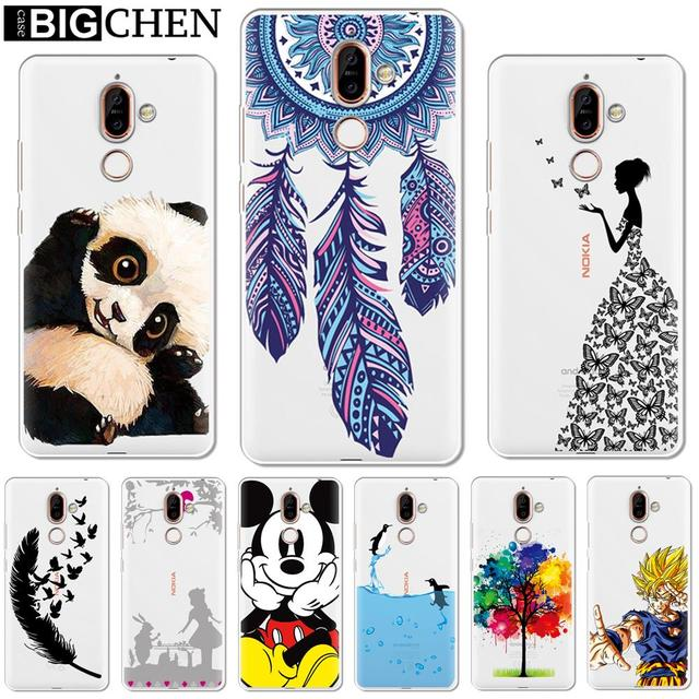 63810d6fc1 Soft Silicone TPU Phone Case Cover For Nokia 1 3 5 8 6 2 7 Plus 9 X6 2.1  3.1 5.1 6.1 2018 Phone Back Cases Coque Capa