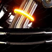 Kit de señal de giro de horquilla LED de 39mm 41mm y lente ahumada para motocicleta Harley Victoryfork turn signalsturn signalfor harley