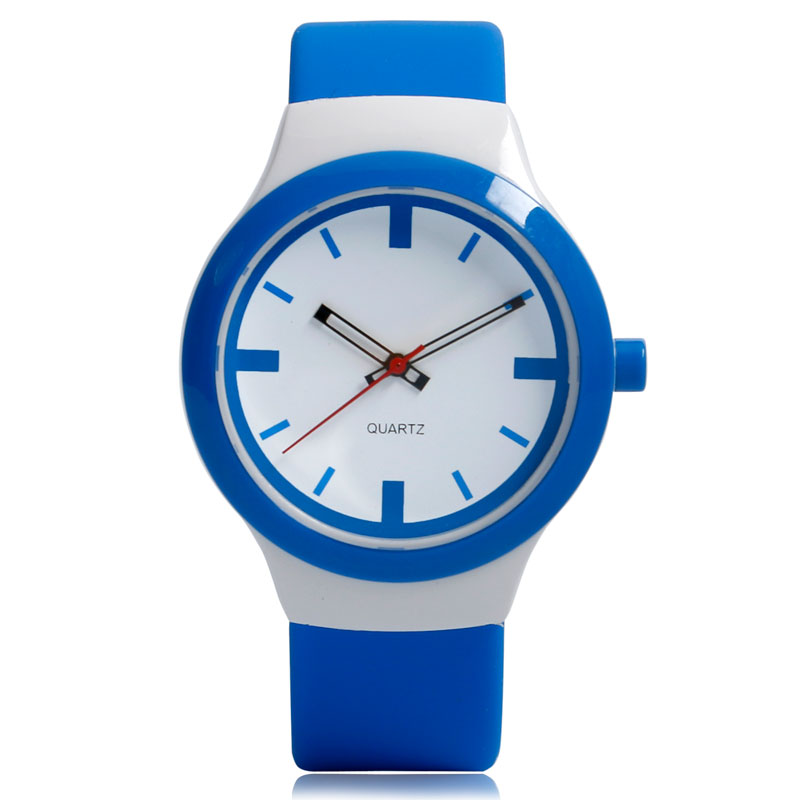 Children Jelly Silicone Band Strap 3ATM Water Resistant Hot Quartz Ourdoors Fashion Blue Analog Sport Wrist Watch Student Boy