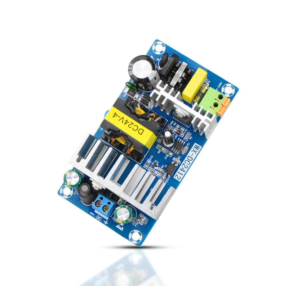 hight resolution of ac dc switching power supply module board ac 110v 220v to dc 24v lighting transformers 4a 6a led driver 100w power adapter in lighting transformers from