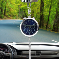 Car Styling Auto Rearview Mirror Car Decoration Interior Accessories Car Clock Perfume Refill Storage Ornament Hanging