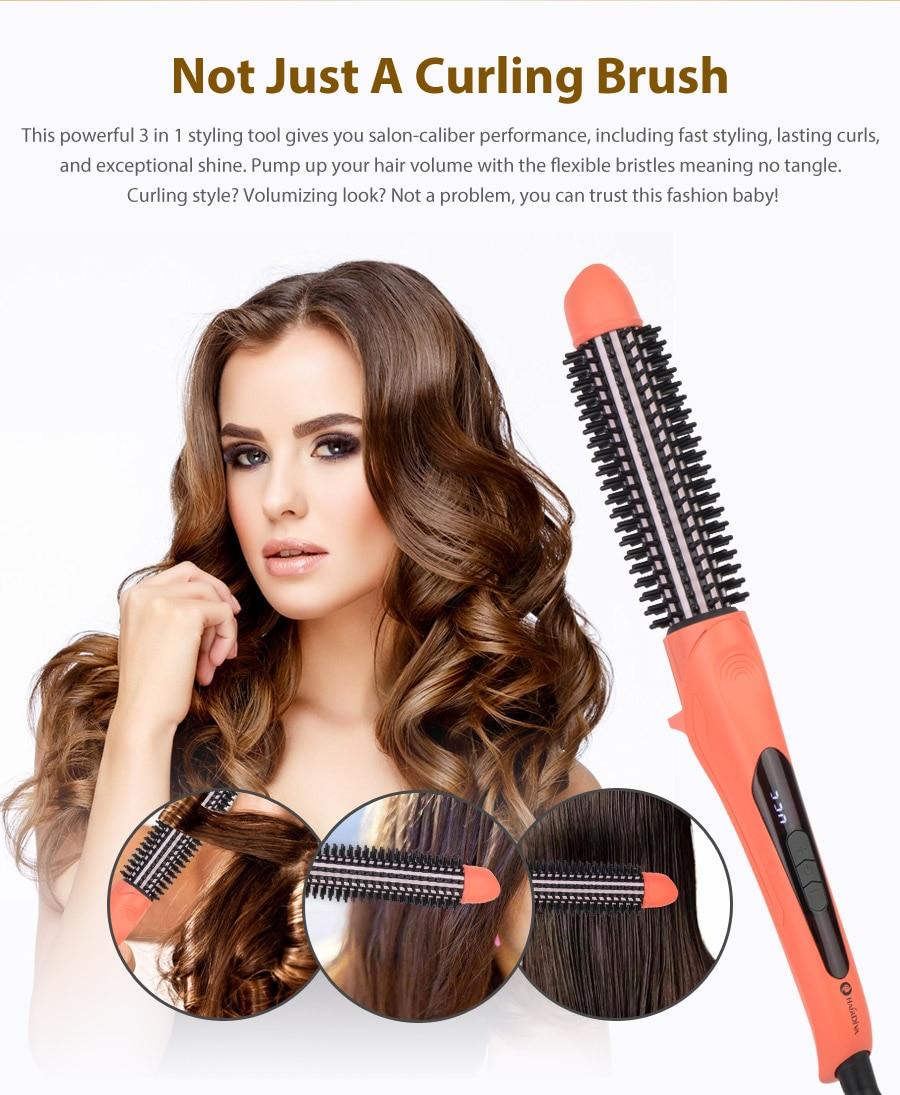 eletrônico cabelo styler com desembaraçar cerdas