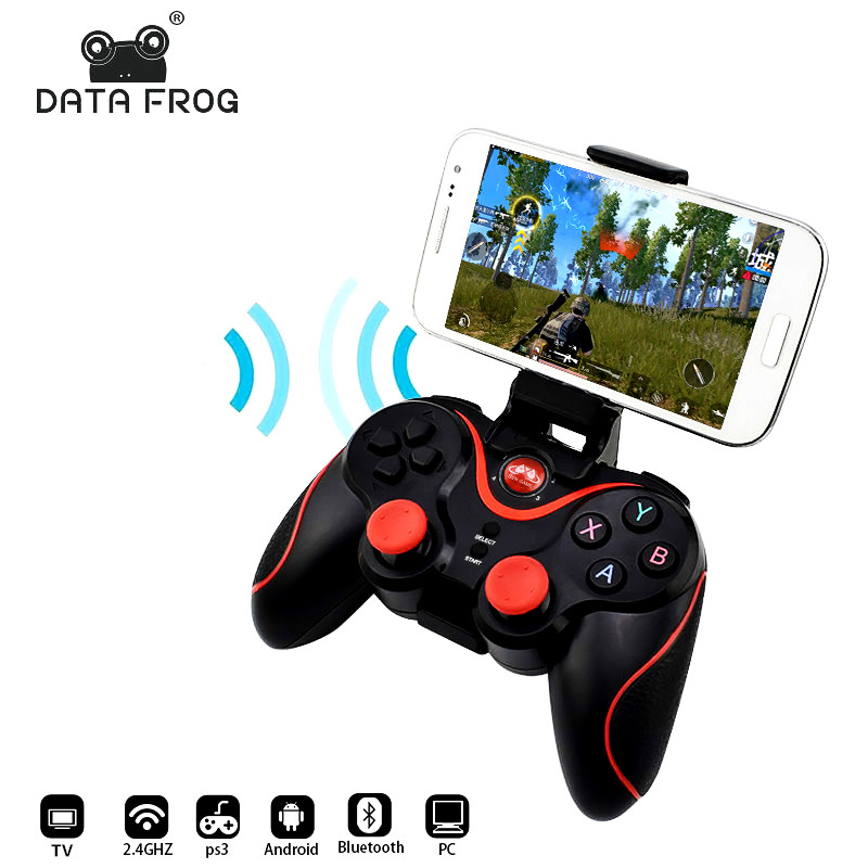 Data Frog Wireless Bluetooth Gamepad Game Controller For IOS Icade  Android Smart Phone For PS3 PC Laptop Gaming Control