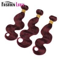 Mode Dame Pré-Couleur Brut Indien Cheveux Tissage Vague De Corps Bundles 100% de Cheveux Humains 99J 3 Bundle Offres Rouge Cheveux Bundles Non-Remy