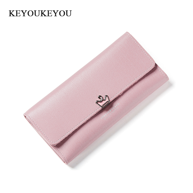 Pu Leather Long Women Wallet Hasp Organizer Solid Clutch Women Wallets Zip Arou Ladies Money Bag Card Holder Carteira Coin Purse 2016 new design women cute wallet my neighbor totoro cute fashion cartoon woman bifolded wallet girl students long purse