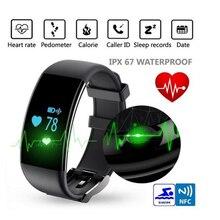 D21 Bluetooth 4.0 Водонепроницаемый IP68 0.66 дюймов Экран сердечного ритма Мониторы шагомер Поддержка IOS Andiord смартфоны спортивный браслет