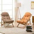 Cadeira de madeira cadeira dobrável cadeira do sofá macio encosto sofá varanda na cadeira do lazer para as mulheres grávidas
