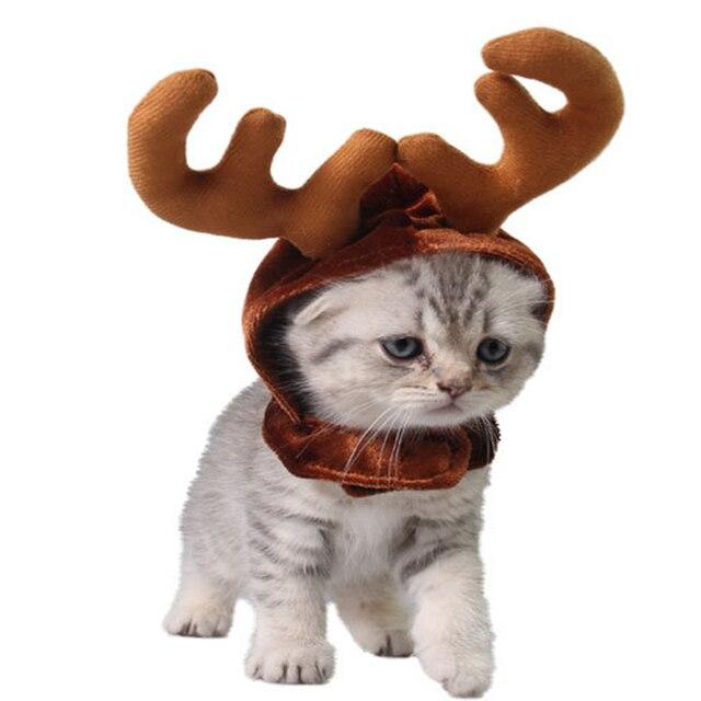 Одежда для собак и кошек, костюм для маленьких домашних животных, шляпа для кошек, платье на новый год, костюм для домашних животных, плащ, Рождественская одежда, mascotas