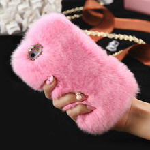 For iPhone 6 6s 7 Plus 5s 5 Case Genuine Rabbit Fluffy Fur Cover Cases For Samsung Galaxy S7 J7 2016 Note 4 Accessories цены