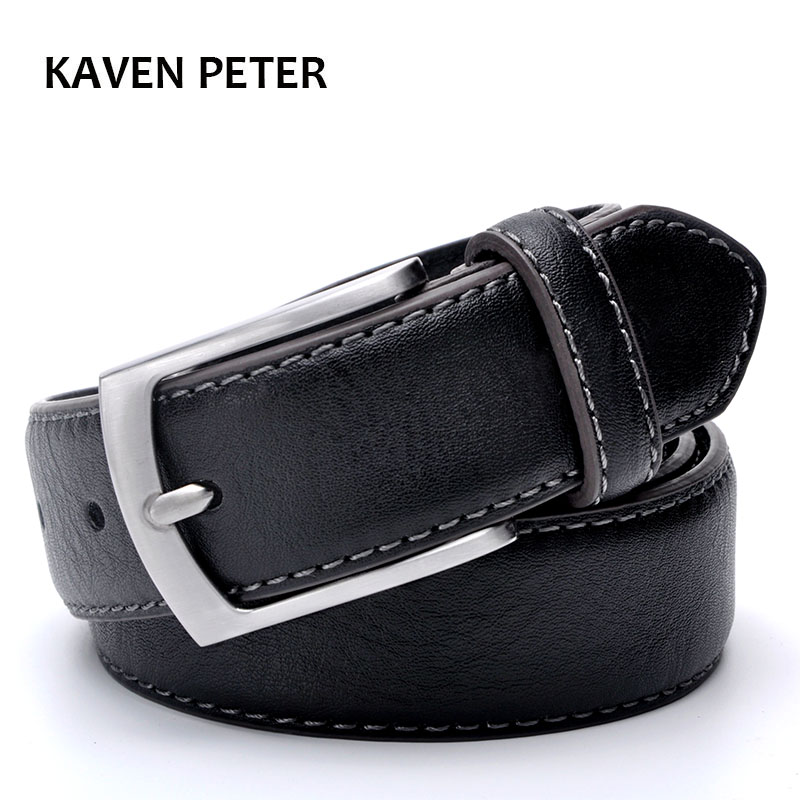Fashion Man Belt Cowhide Leather Belts for Men Brand Strap Male Pin Buckle Casual Men's Leather Belts For Jeans For Man