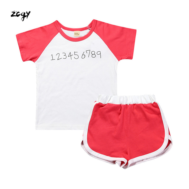 Youngsters Clothes Units 2019 Youngsters Tracksuit Informal Boy Lady Sport Swimsuit Brief Sleeve Letter T-shirt+brief Pants 2Pc Youngsters Clothes Clothes Units, Low-cost Clothes Units, Youngsters Clothes Units 2019 Youngsters...
