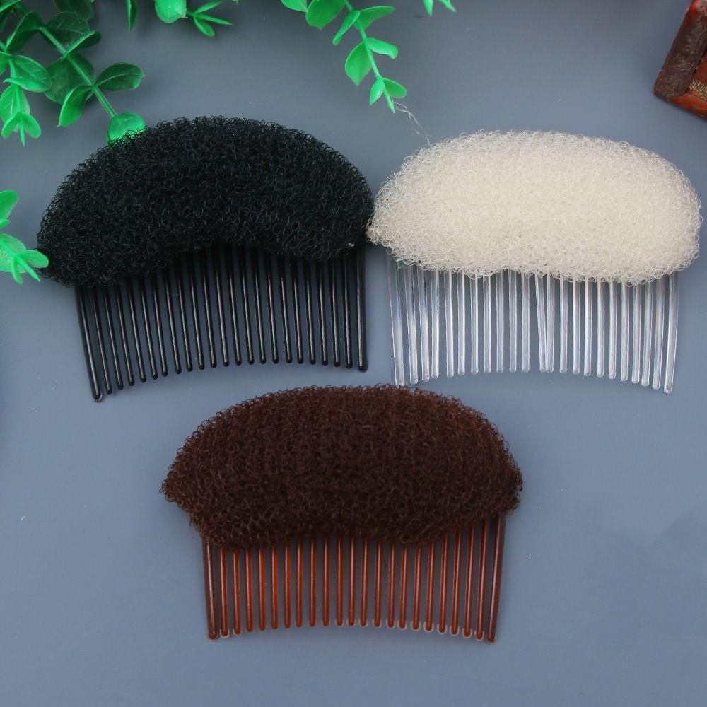 White/Black/Coffee Combs Women Fashion Women Hair Combs Ornaments Hair Bun Maker Braid DIY Tool Hair Accessories