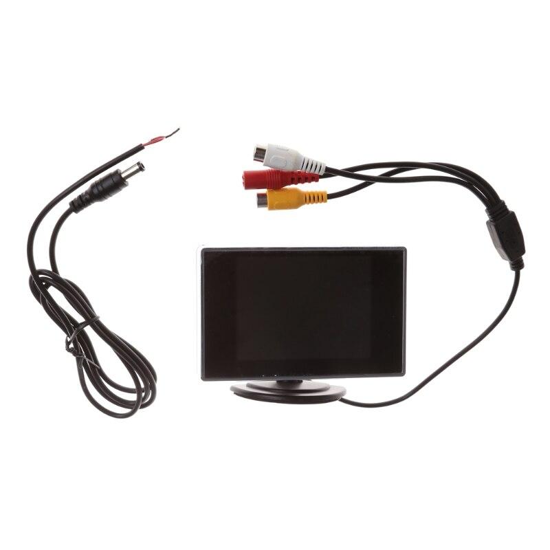 3,5 дюймовый цветной ЖК-монитор Mini TFT, экран DVD VCD для резервной камеры заднего вида автомобиля