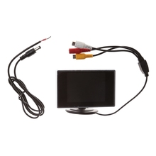 "3.5"" Mini TFT LCD Color Monitor Screen DVD VCD For Car Rear View Backup Camera"