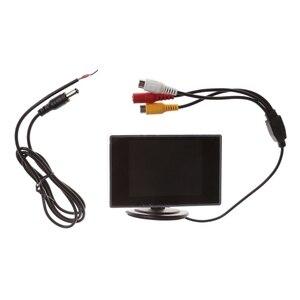 "Image 1 - 3.5 ""Mini TFT LCD Kleurenmonitor Scherm DVD VCD Voor Auto Achteruitrijcamera Backup Camera"