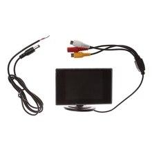 """3.5 """"מיני TFT LCD צבע צג מסך DVD VCD עבור מכונית אחורית גיבוי מצלמה"""
