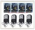 New DC12--48V 12V 24V 36V 48V 1CH 10A  RF wireless remote control switch 4 pcs receiver +4 pcs  transmitter