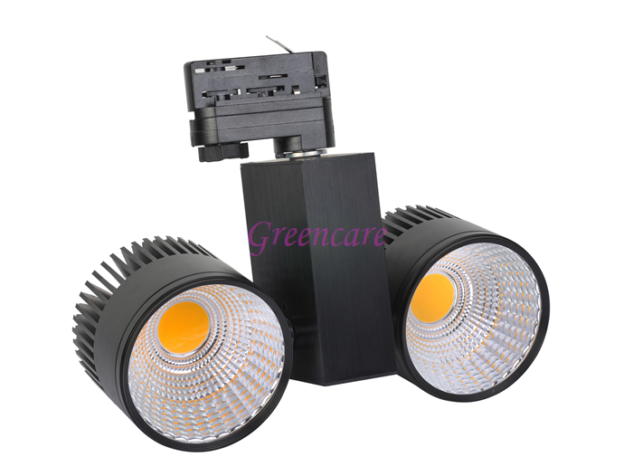 New 60W COB LED Track light AC 85V-265V energy savinig lamp for store shopping mall 2 Rail lighting Warm Cold Natural White led track light50wled exhibition hall cob track light to shoot the light clothing store to shoot the light window