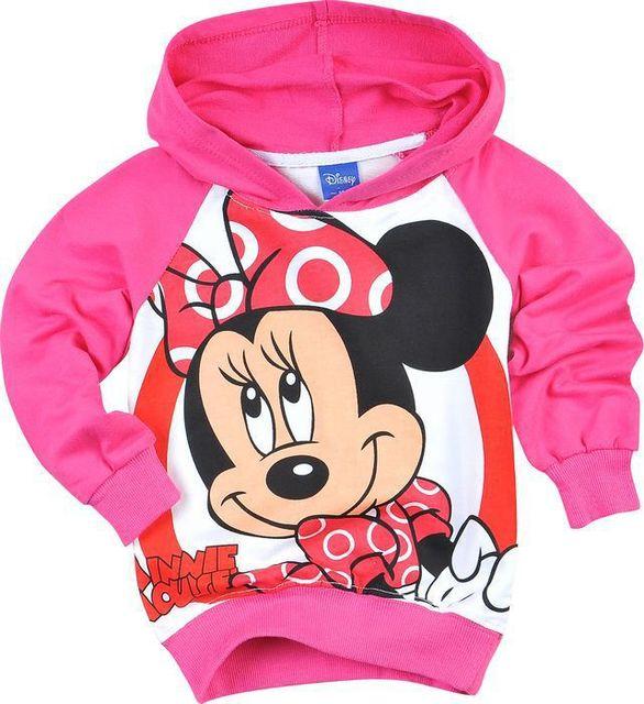 Free Shipping autumn children sportswear cartoon pink minnie mouse printing kids hoodies girls long sleeve hoodies sweatshirt