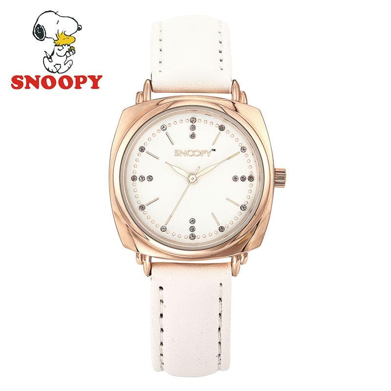 ФОТО 2017 Snoopy Kids Watch Children Watch Casual Fashion Cute Quartz Wristwatches Girls Waterproof Leather