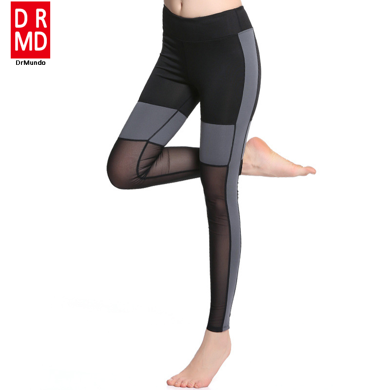 New Brand Sex High Waist Stretched Sports Pants Gym -7031