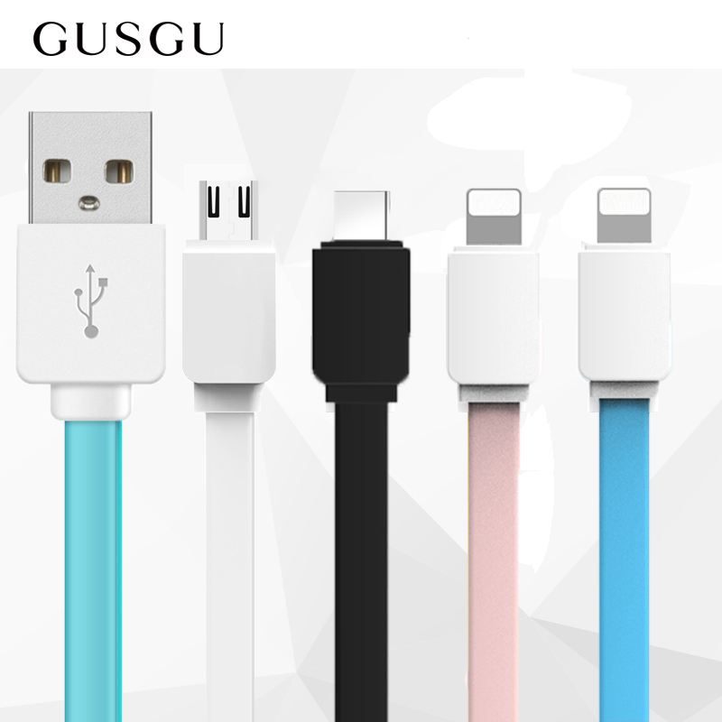 GUSGU Classic USB Cable for iPhone XS Max 8 7 6 S Charger Data Cable for Samsung Huawei
