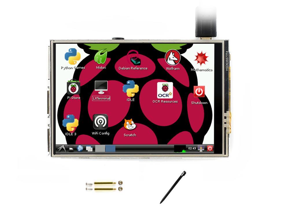 Waveshare 480x320, 3.5 inch Touch Screen Tablet TFT LCD Ontworpen voor Raspberry Pi, 125MHz High Speed SPI-in Demo bord van Computer & Kantoor op AliExpress - 11.11_Dubbel 11Vrijgezellendag 2