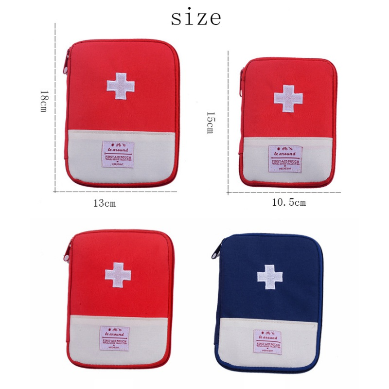 Portable Organizer Mini Travel Bag Førstehjælp Emergency Medical Kit Overlevelsespose Wrap Gear Hunt Small Medicine Kit Organizer