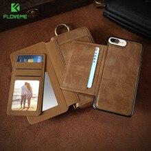 Floveme старинный кожаный кошелек чехол для телефона iPhone 7 7 Plus 6 6 S плюс ретро сумки слот для карты крышка Для Samsung S7 S8 Coque