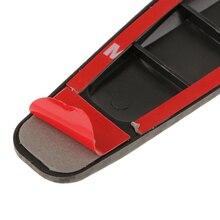 2 pces carro de fibra de carbono anti colisão tira pára choques protetor barra de acidente de carro anti rub barra para carro/caminhão/suv/mpv/rv etc 40*5cm
