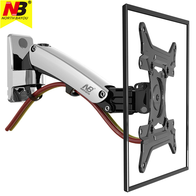Nb F200 Tv Wall Mount Bracket 30 40inch Monitor Arm Holder Gas Spring Free Lift