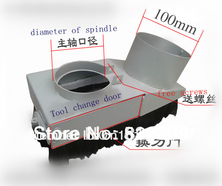 Vacuum Cleaner Spindle Dust Cover for 80mm Diameter CNC Spindle Engraving Machine Dust Cover for 1