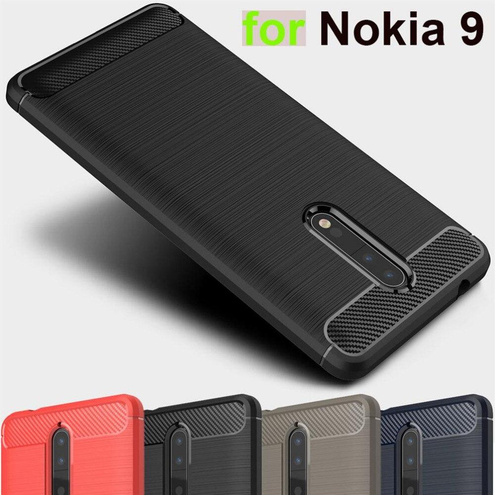 Slim Rugged Armor cover for Nokia 9 case Original Carbon Fiber ...