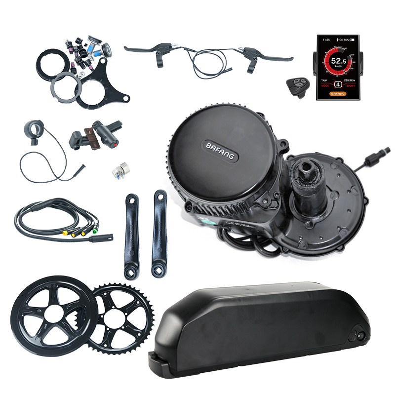 Sale Bafang Mid Drive Kit Electric Motor 36V 500W Bafang BBS02 Motor E-bike Kit with Electric Bike Battery Kit 36V 13AH Bike Battery 2