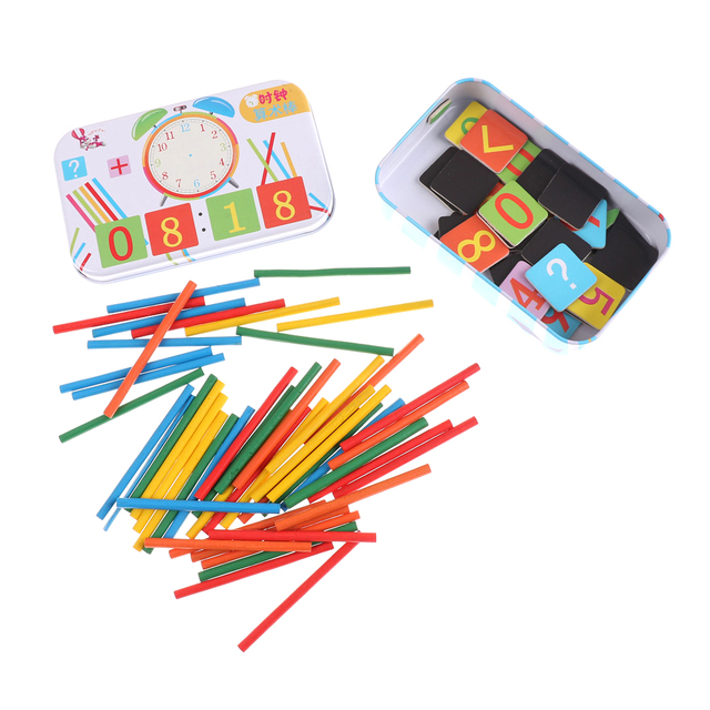 Wooden Stick Magnetic Mathematics Puzzle Education Number Toys ...