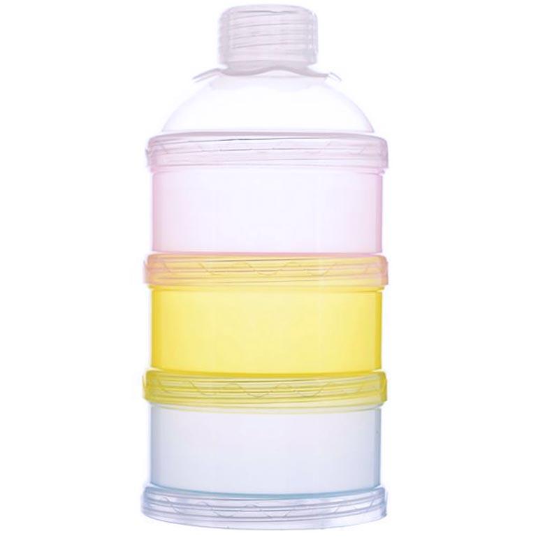 Infant Baby Feeding Milk Powder Box Children Three Layers Solid Portable Milk Bottle Kids Food Storage Baby Accessories