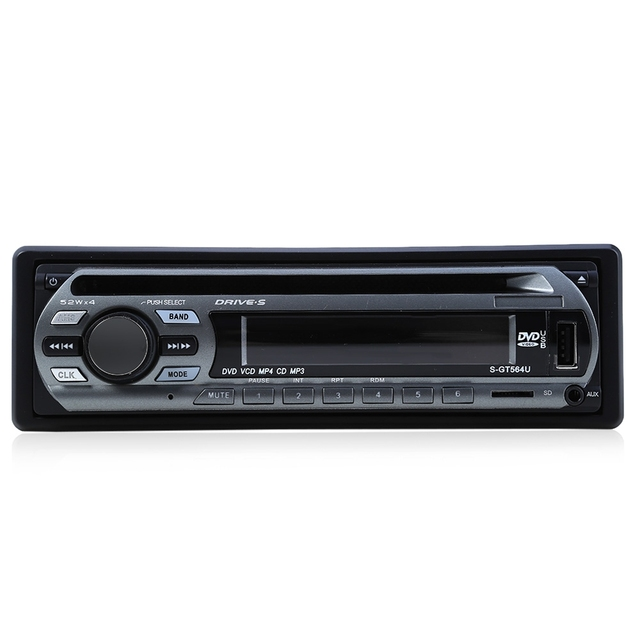 12V 52W Car Audio Stereo FM Support USB SD DVD Mp3 Player AUX with Remote Control Free Shipping
