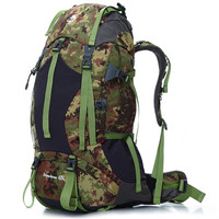 65L Outdoor Camping Hiking Mountaineering Backpack Climbing Travel Rucksack Bag Anti Tear And Waterproof Climbing Accessories