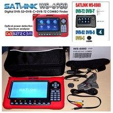 Satlink WS6980 ws-6980 DVB-S2/C + DVB-T2 COMBO Optycznego wykrywania Spektrum wyszukiwarka satelitarnej satlink miernik vs ws6979 combo finder
