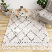 Bereich Teppiche Sophia Marokkanischen Diamant Quaste Shag Teppich beige farbe  Marokko stil Beni Ourain teppich |Teppich|   -
