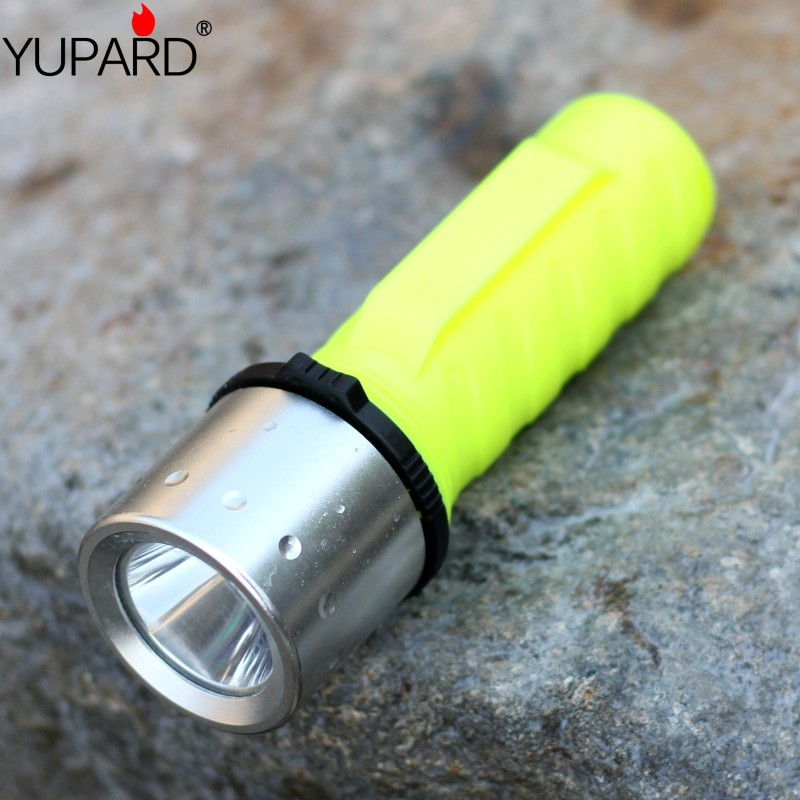 YUPARD XM-L T6 led diving diver Underwater Waterproof Flashlight headlight Torch Light rechargeable 26650 18650 AAA