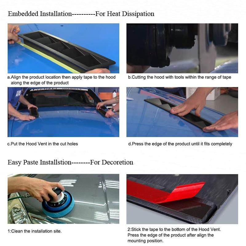 Hood Vent Air Flow Intake Scoop Cover6