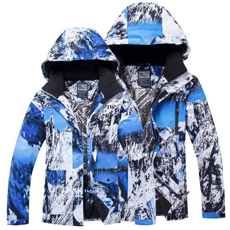 Veste de Snowboard pour femme veste de Ski d'hiver imperméable manteaux de Sports de plein air pour hommes combinaison de Ski chaude et coupe-vent