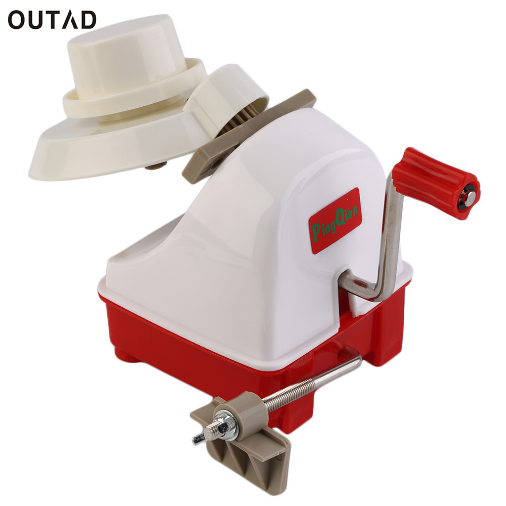 OUTAD Wholesale Winder swift woolen yarn winding machine holder for string ball wool winder handle handheld hand operated kit