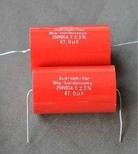 2PCS Audio Assiale Polipropilene MKP Audiophiler 47uF 250V Condensatore Per Altoparlante Amplificatore a Valvole Audio Circuito di Crossover