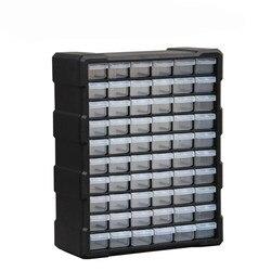 Caja de Herramientas caja de piezas Multi-rejilla tipo cajón componente Caja de Herramientas bloques de construcción tornillo caja de almacenamiento 3 colores