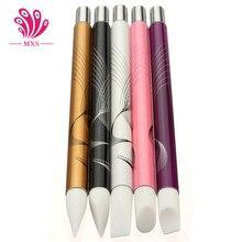 5 Unids/set Nail Art Pen Escultura de Silicona Para Relieve Tallado Arte Polaco Mental Mango Nail Art Salon Tool Set B-033