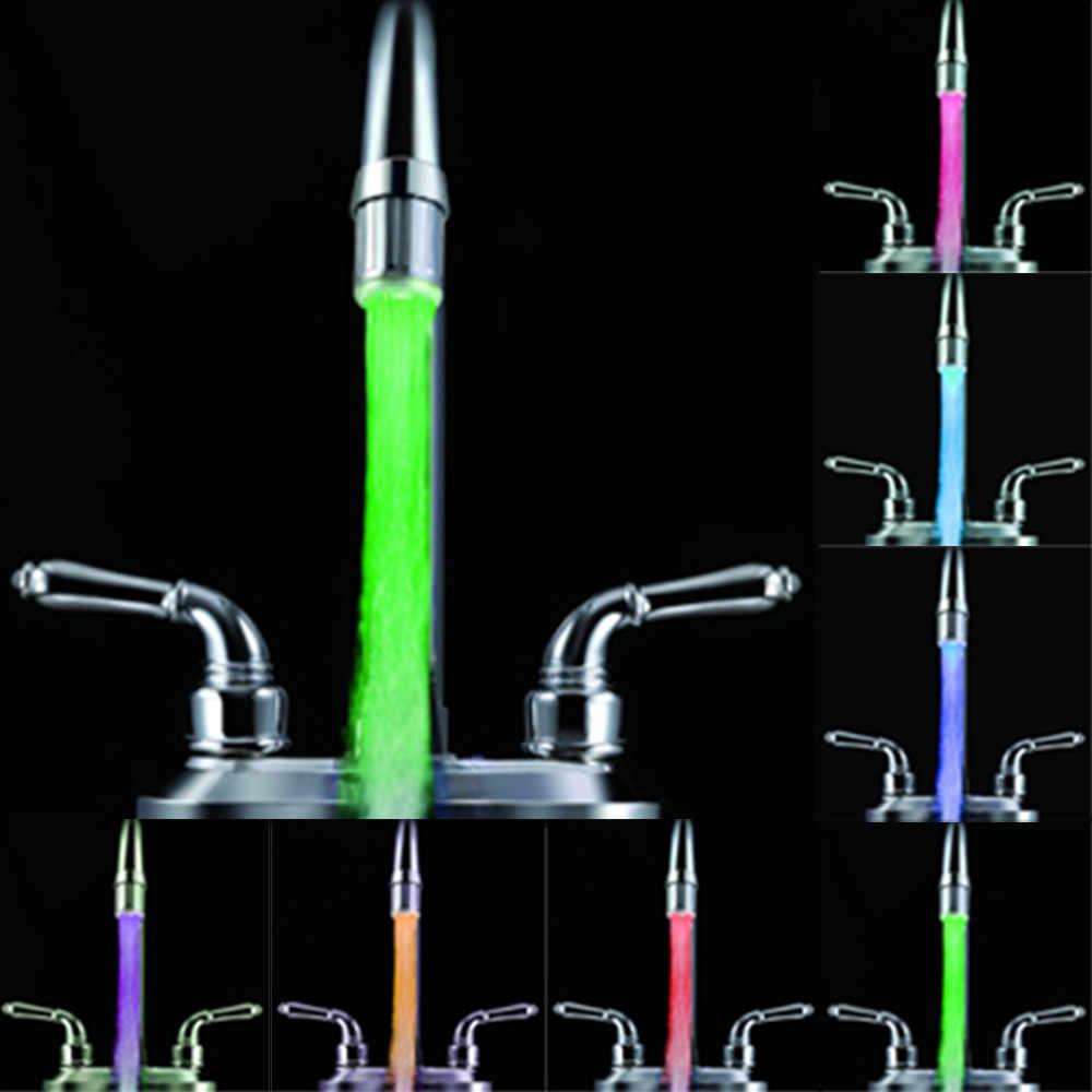 カラフルな点滅 Led 蛇口 Led ライト色の水タップ光がシャワーヘッドブライトウォーターバスホーム浴室グロー蛇口 # J1
