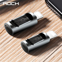 ROCK Type c to Lighting Male Phone Adapter for iPhone X 8 6 OTG For Lightning to Micro Famale Splitter USB C Microusb Converter(China)